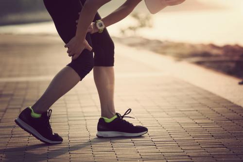 Someone on a jog injury