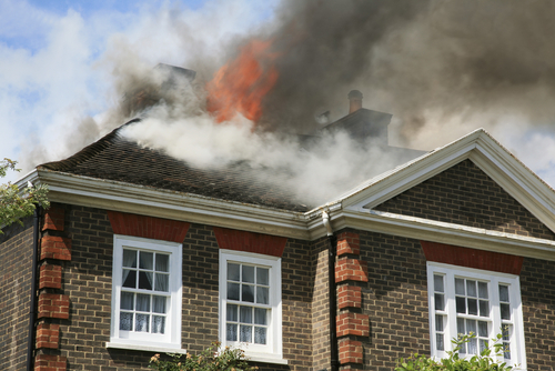 A house undergoing one of the 17 perils