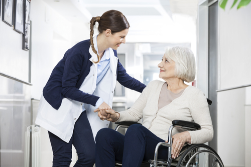 A woman with her mother who needs long-term care